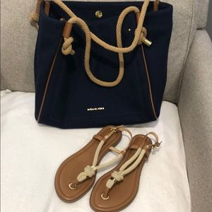 Mk bag and sandals